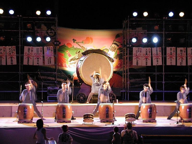 土佐山田まつり(山田太鼓演奏) (2005)